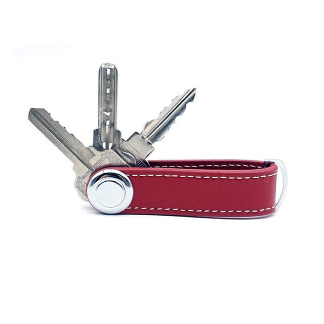 Red Smart Key Wallet | Stylish Keyring Gift