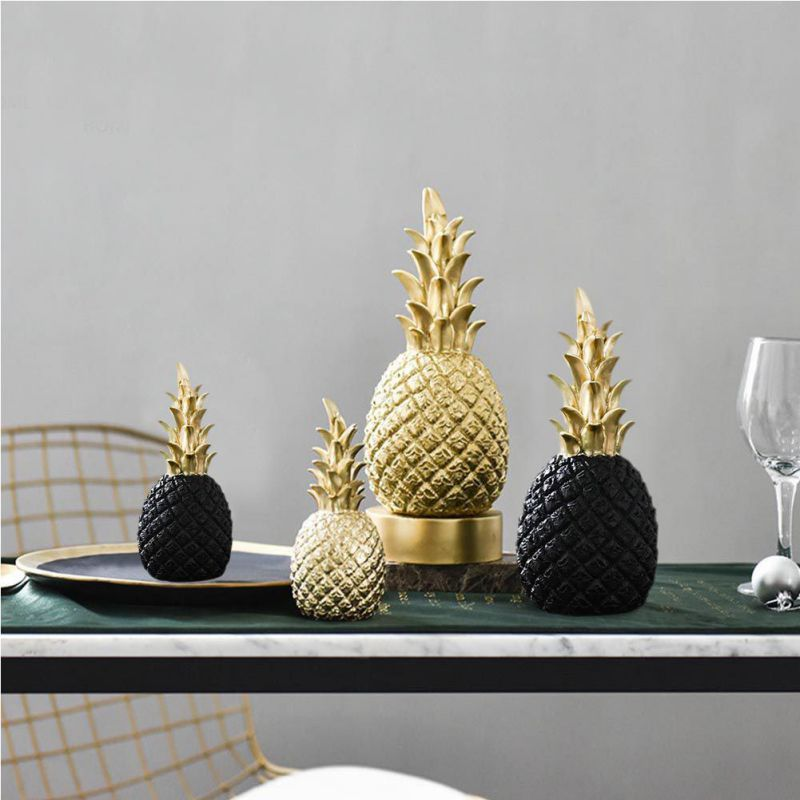 Home Decor Pineapple Sculpture available in three colours and two sizes