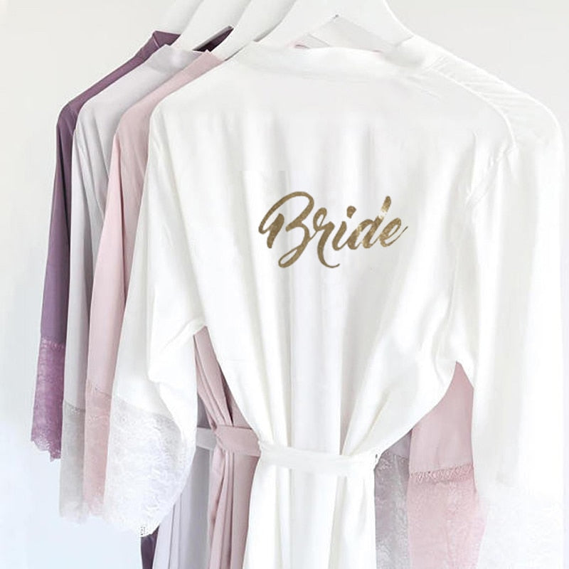 Bridal robe in a selection of colours