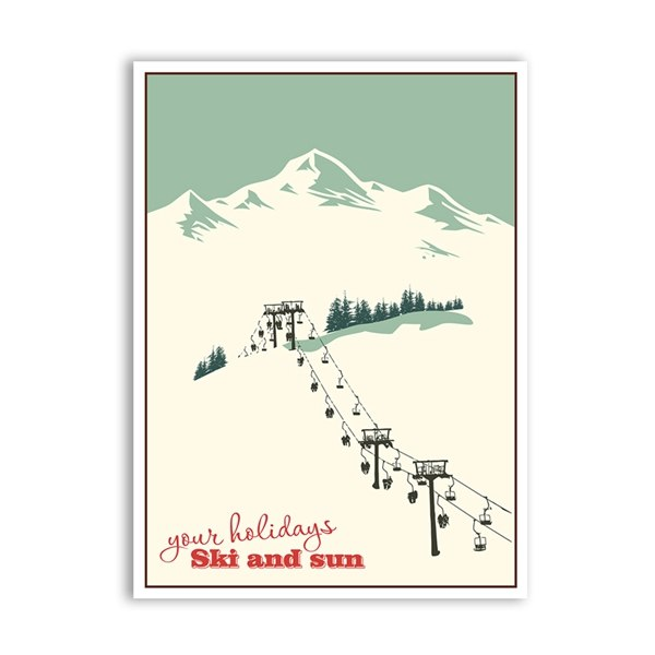 Must Have Vintage Skiing Canvas | Wanderlust Wall Art | Old Ski Posters