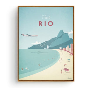 Minimalist Rio Travel Poster in pastel colours | Affordable Wall art