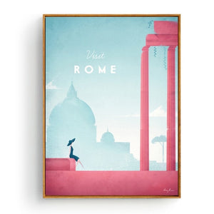 Minimalist Rome Travel Poster in pastel colours | Affordable Wall art