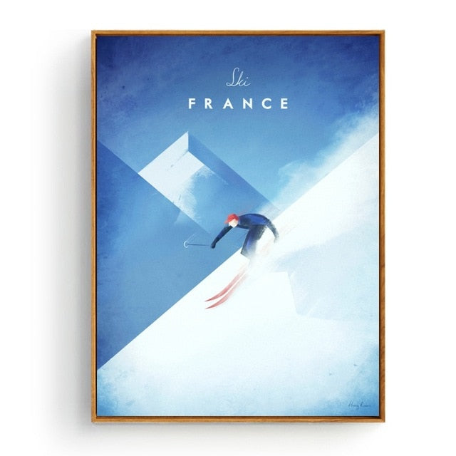 Minimalist France Travel Poster in pastel colours | Affordable Wall art