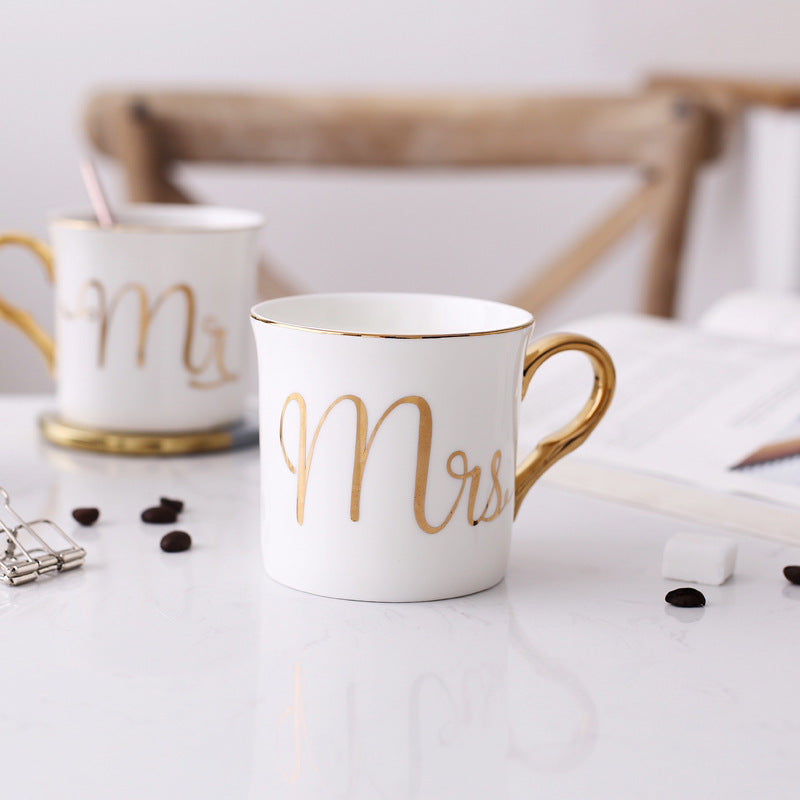 Ceramic Mr & Mrs Mugs | Stylish Wedding Gift
