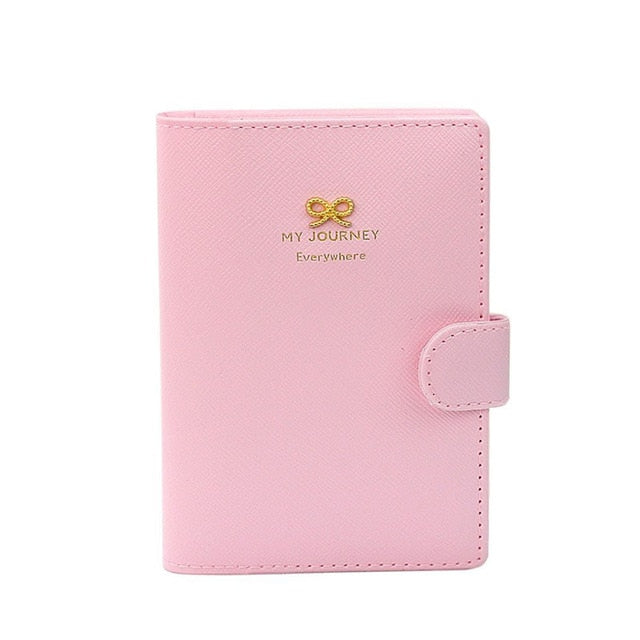 Pink Leather Passport Cover | Travel Essentials