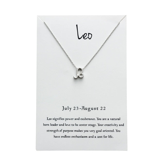 Leo Star Sign Charm Necklace Gold & Silver Star Sign Chain | Star Sign Gift
