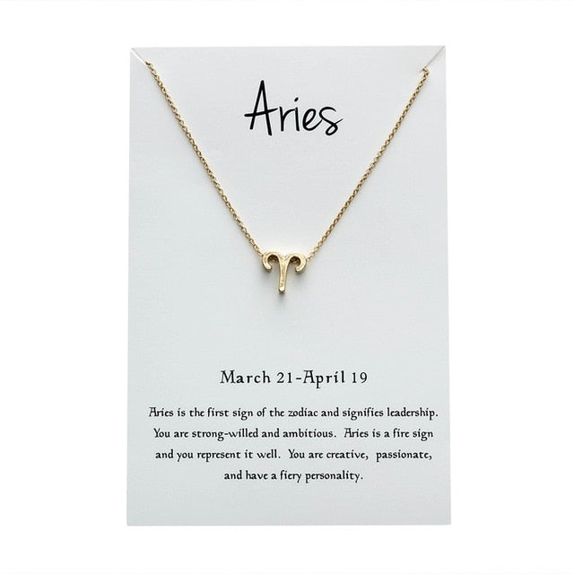 Aries Star Sign Charm Necklace Gold & Silver Star Sign Chain | Star Sign Gift