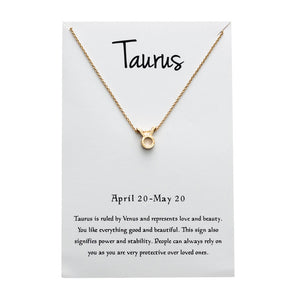 Taurus Star Sign Charm Necklace Gold & Silver Star Sign Chain | Star Sign Gift