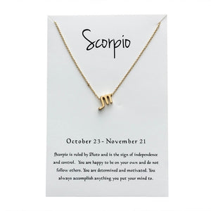 Scorpio Star Sign Charm Necklace Gold & Silver Star Sign Chain | Star Sign Gift