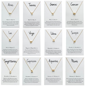 Star Sign Charm Necklace Gold & Silver Star Sign Chain | Star Sign Gift