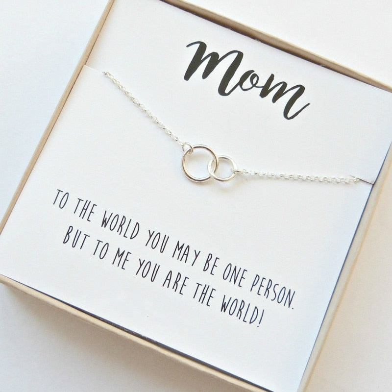 Linked Circle Mom Necklace/Bracelet | Affordable Mother's Day Gift