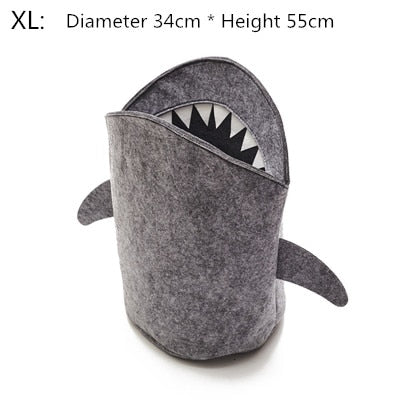 Grey Shark Collapsable Basket | Essential Toy Storage | Children's Bedroom accessories