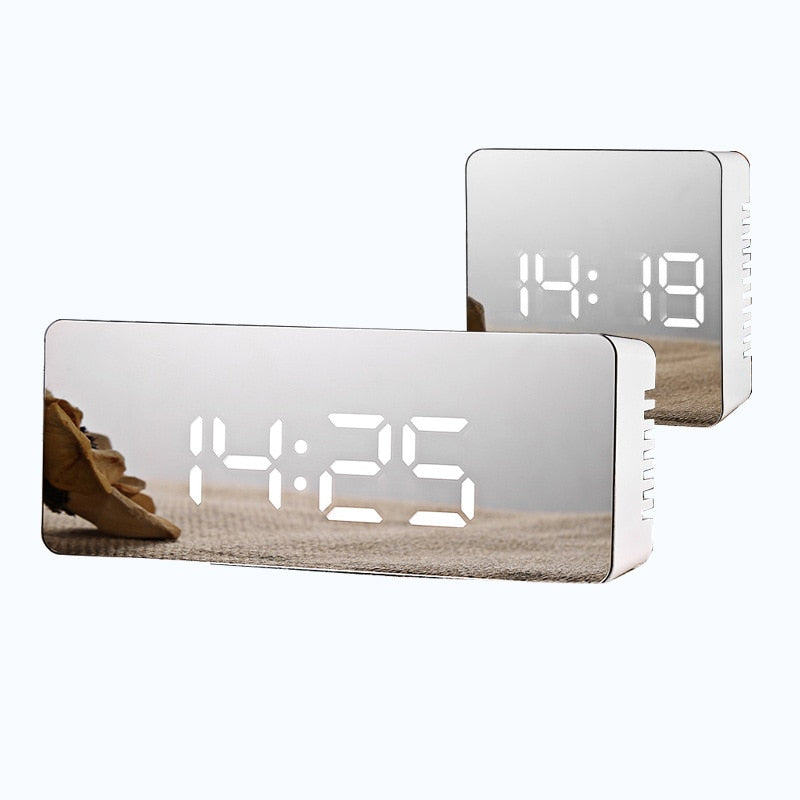Stylish LED Mirror Alarm Clock | Home Decor Gift's
