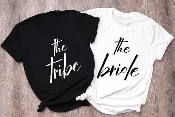 The Tribe, The Bride T-shirt's | Wedding Party Accessories