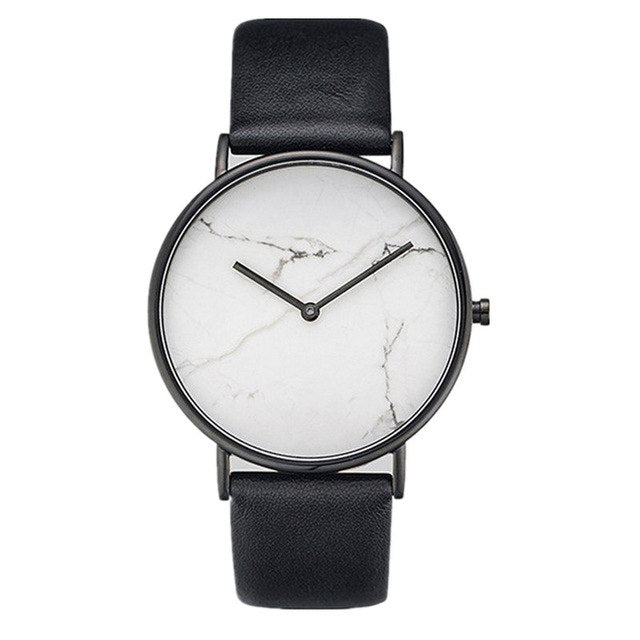 Stylish Oversized Luxury Marble Watch | Classic White Watch