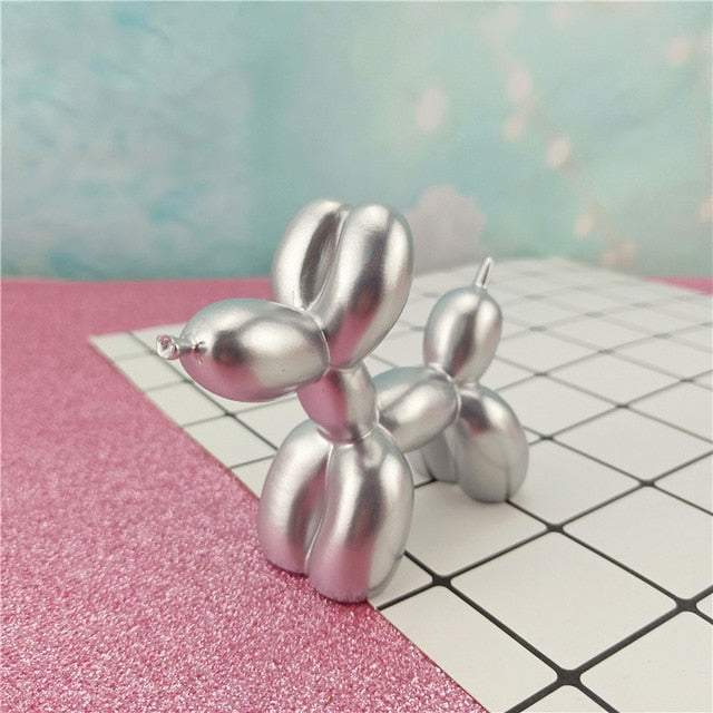 Small Balloon Dog Silver Sculpture | Home Ornaments | Unique House Decor Essentials