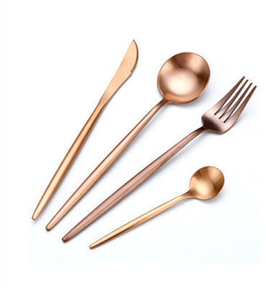 Stylish Stainless Steel Pink Cutlery Set | Affordable Home Gifts
