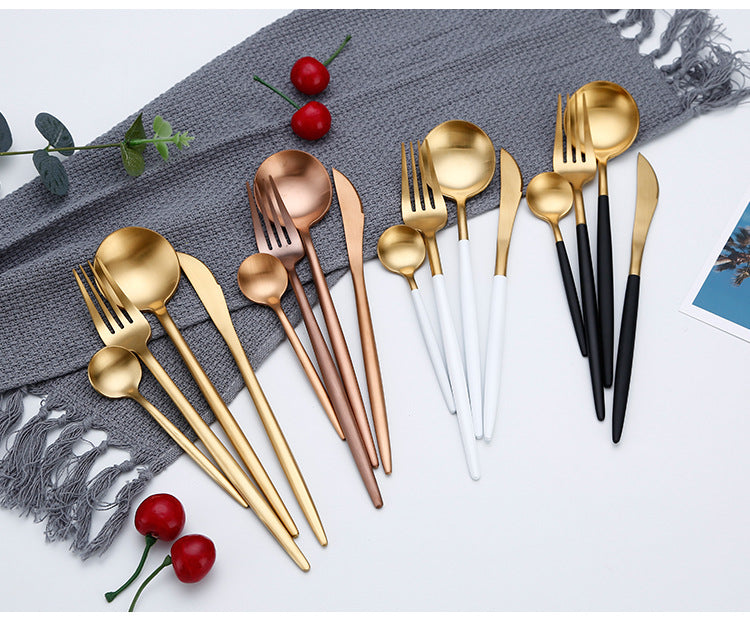 Stylish Stainless Steel All colours Cutlery Set | Affordable Home Gifts