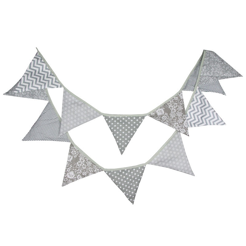 Cute Grey bunting perfect for a nursery