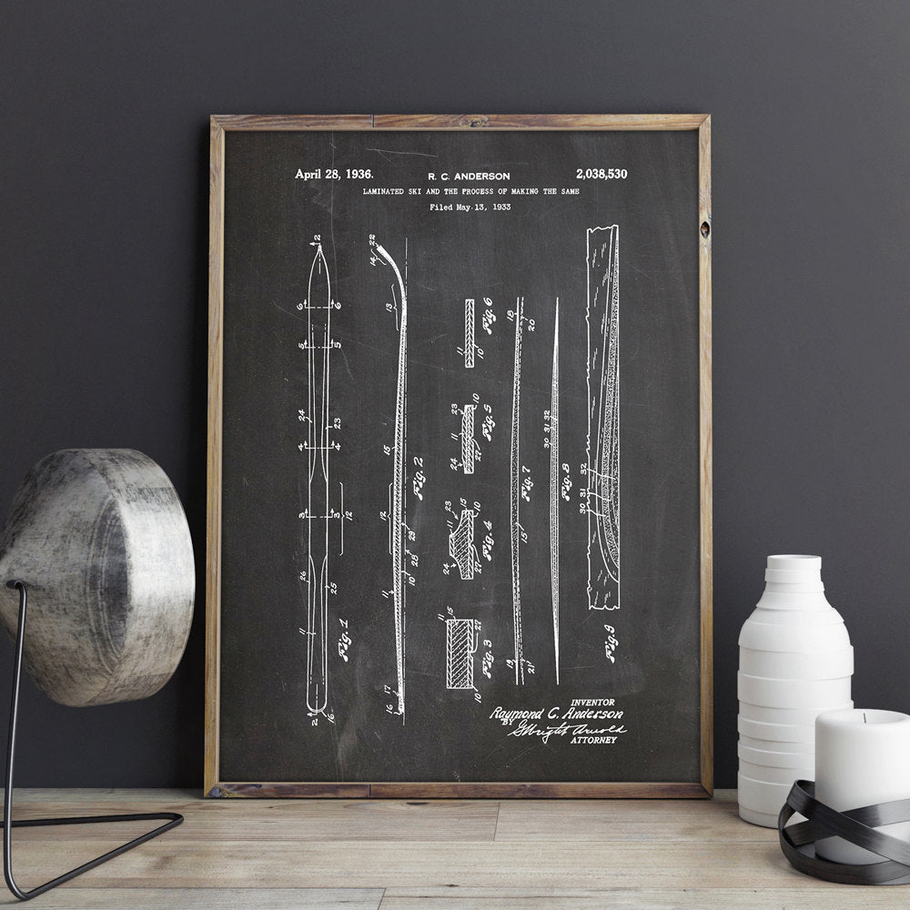 Blueprint Ski's Wall Art | Home Decor Canvas | Stylish Home essentials