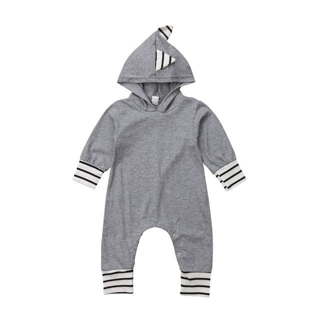 Grey Dinosaur Baby Romper | Kid's Clothes