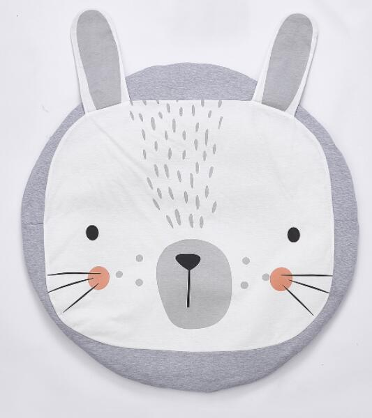 Grey Rabbit Play Mat | nursery Accessories | Children's bedroom Decor