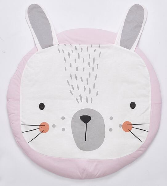 Pink Rabbit Play Mat | nursery Accessories | Children's bedroom Decor