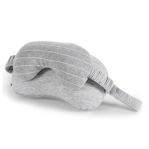 New 2 in 1 Grey Travel Neck Pillow & Eye Mask | Travel Essentials