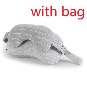 New 2 in 1 Grey Travel Neck Pillow & Eye Mask with bag | Travel Must have's