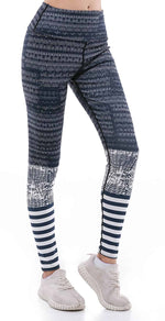 Sunny Lily  STRIPE MESH YOGA PANTS FOR WOMEN
