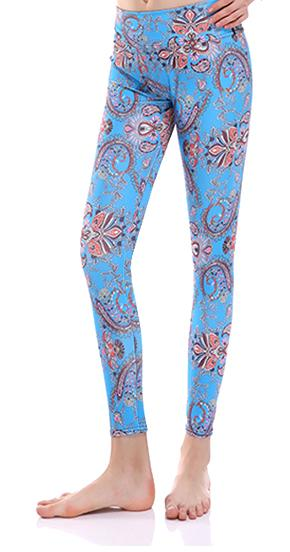 Sunny Lily  FLORAL CRAFT HIGH WAIST FASHION LEGGINGS