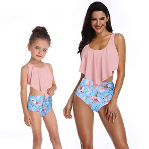 Pink Flower Swimsuit for Women
