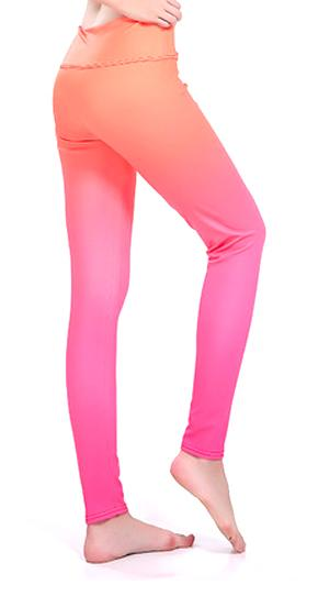 Sunny Lily  ORANGE BREEZE HIGH WAIST FASHION LEGGINGS