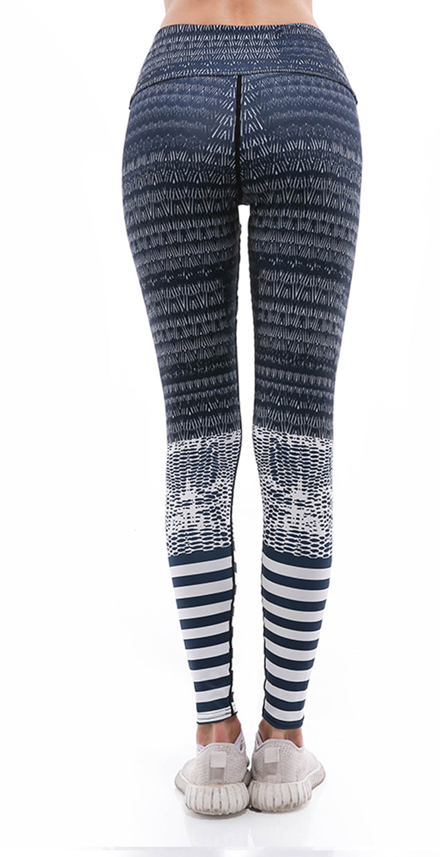 Sunny Lily  STRIPE MESH LEGGINGS FOR WOMEN