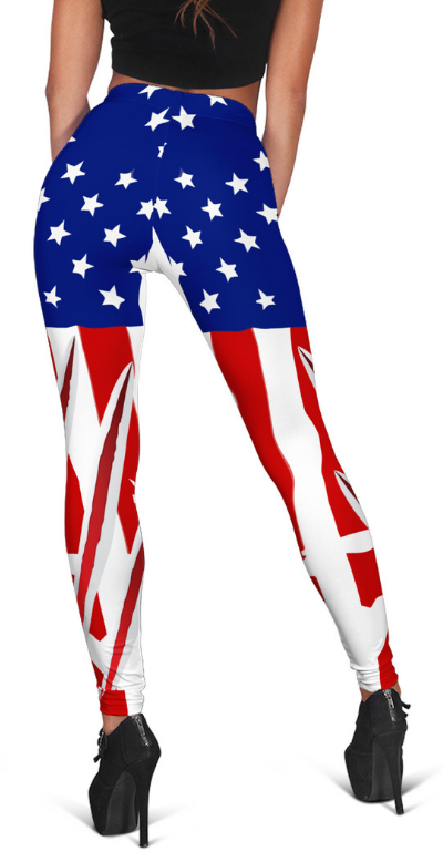 AMERICA HIGH WAIST FASHION LEGGINGS