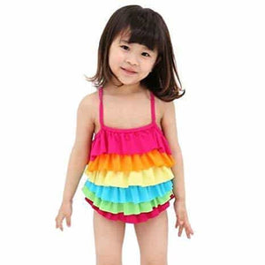 Dazzling Rainbow Swimsuits for Girls