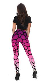 MAD PINK HIGH WAIST FASHION LEGGINGS