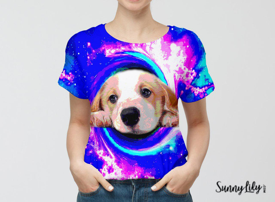 CUSTOMIZED CUTE PUPPY PHOTO T-SHIRT