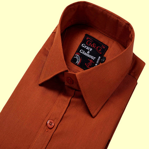 Grace & Glamour Cotton Full Sleeve Casual Single Shirt for Men