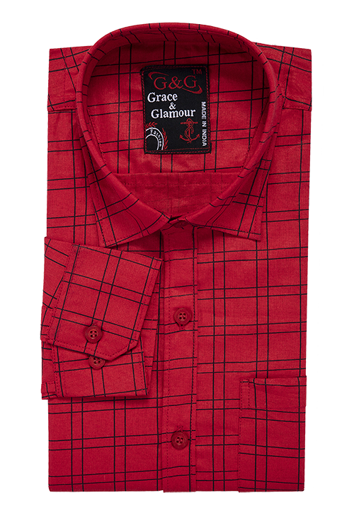 Combo of 3 Cotton Full Sleeve Check Shirt for Men Pink-Pinkblack-Orangeblack