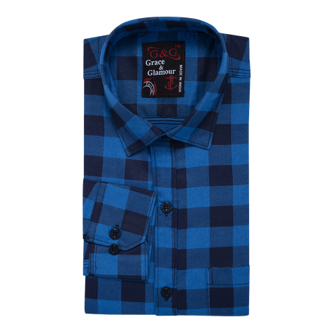 Combo of 3 Cotton Full Sleeve Check Shirt for Men Whiteblack-Firoziblack-OrangeBlack