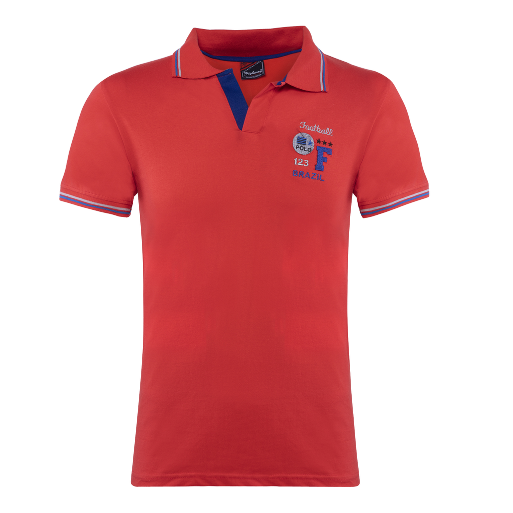 Combo of White-Blue-Red Cotton Polo Collar Half Sleeve T-Shirt for Men