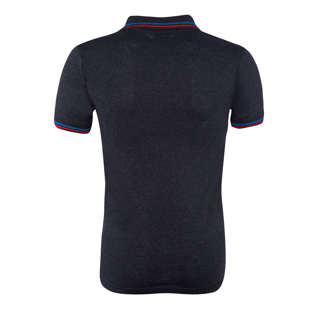 Cotton Polo Collar Half Sleeve TShirt for Men - Black
