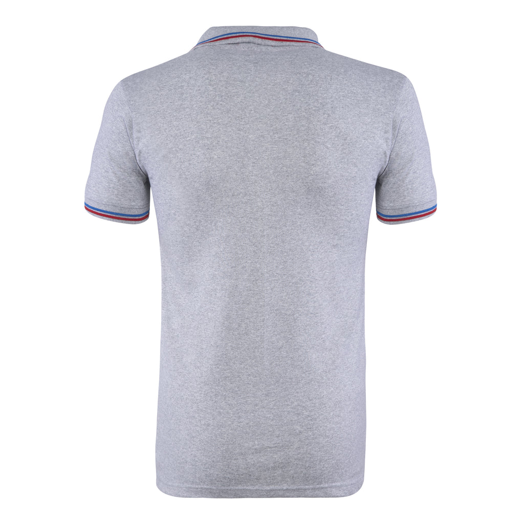 Cotton Polo Collar Half Sleeve TShirt for Men - Grey