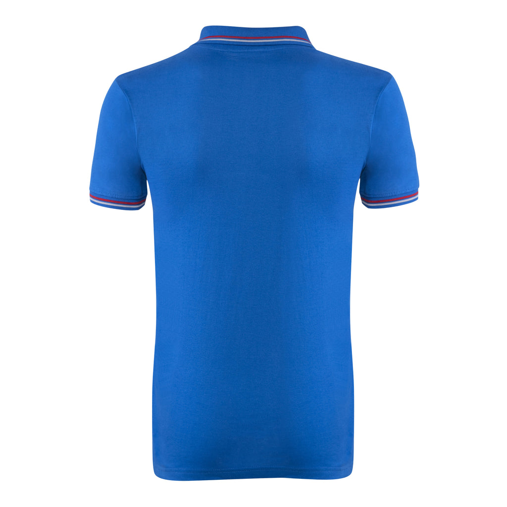 Cotton Polo Collar Half Sleeve TShirt for Men - Blue