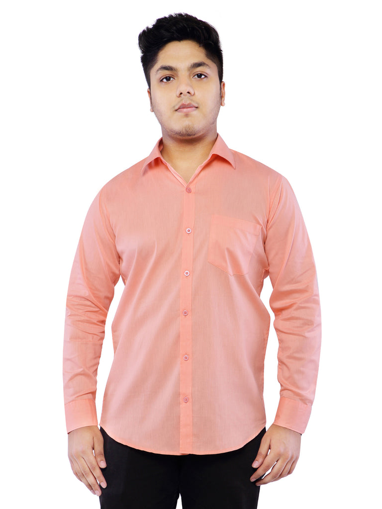 Combo of 2 Cotton Full Sleeve Shirt for Men - Pink-SkyBlue