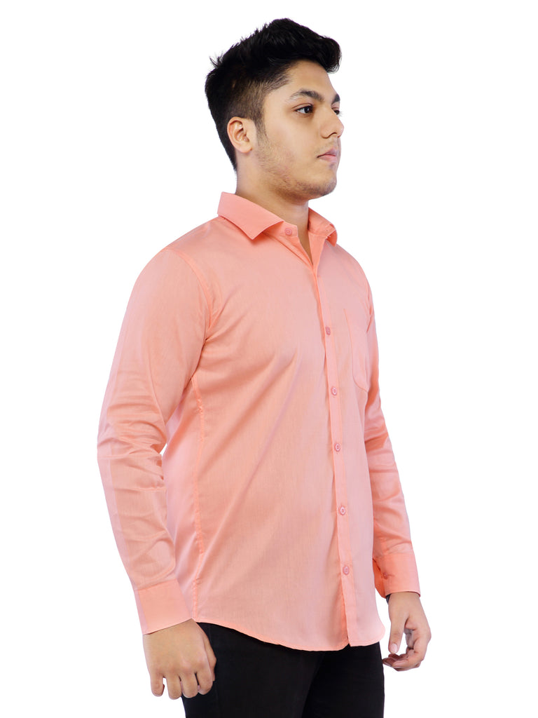 Combo of 2 Cotton Full Sleeve Shirt for Men - Amber-Pink