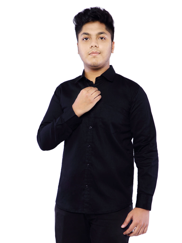 Combo of 2 Cotton Full Sleeve Shirt for Men - Green-Black