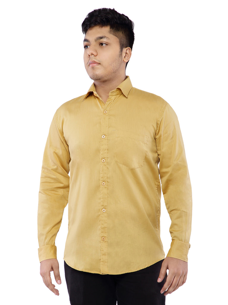 Combo of 2 Cotton Full Sleeve Shirt for Men - Blue-Yellow