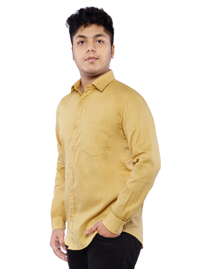 Combo of 2 Cotton Full Sleeve Shirt for Men - Green-Yellow